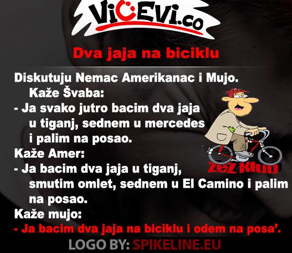 Dva jaja na biciklu, vicevi o Bosancima