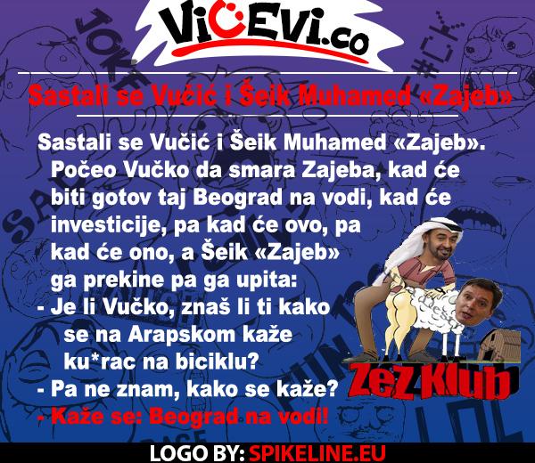 Sastali se Vučić i Šeik Muhamed «Zajeb» @ Vicevi o političarima