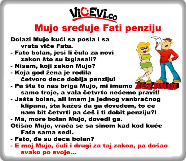 Mujo sređuje Fati penziju @ vicevi o Bosancima - Mujo i Fata