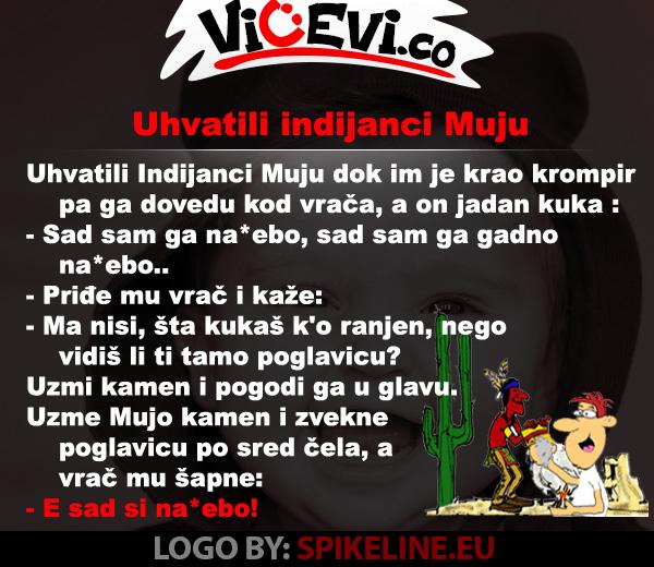 Uhvatili Indijanci Muju @ vicevi o Bosancima - Mujo