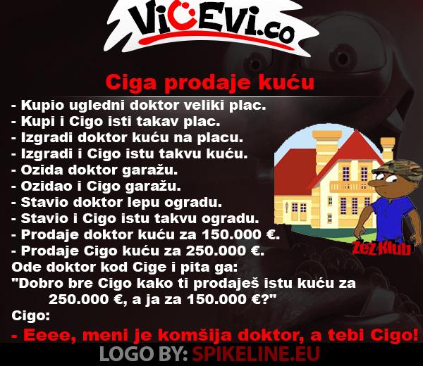 Ciga prodaje kuću @ vicevi o Cigi i doktoru