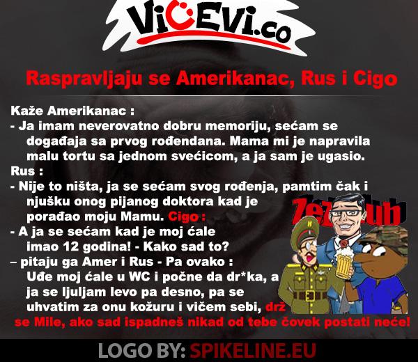 Raspravljaju se Amerikanac, Rus i Cigo @ vicevi o Cigi