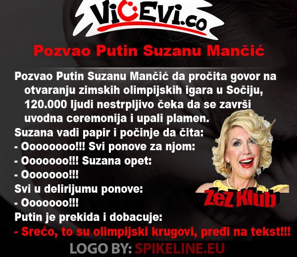 Pozvao Putin Suzanu Mančić @ vicevi o javnim ličnostima