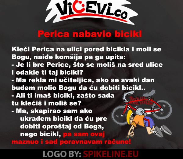 Perica na lakši način nabavi bicikl