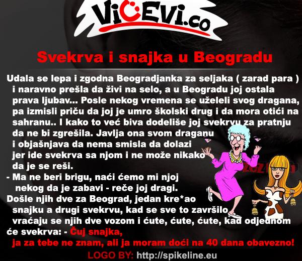 Svekrva i snajka u Beogradu @ vicevi o Snajkama i Zetovima