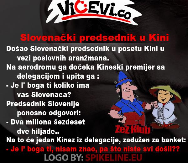 Slovenački predsednik u Kini @ vicevi o Slovencima