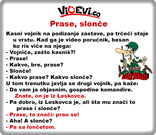 Prase, slonče, 1 vicevi Jug Srbije, Leskovčani, Leskovac