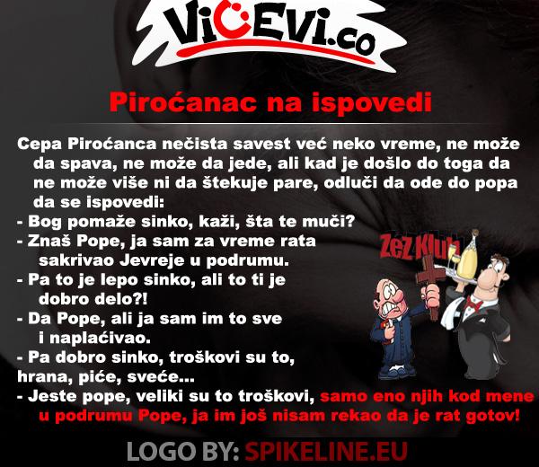 Piroćanac na ispovedi @ vicevi o Piroćancima