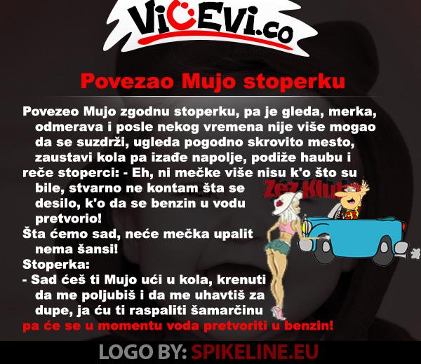 Povezao Mujo stoperku @ vicevi o Bosancima, Vicevi o Muji i Fati