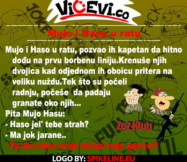Mujo i Haso u ratu @ vicevi o Bosancima, Najbolji vicevi 90ih
