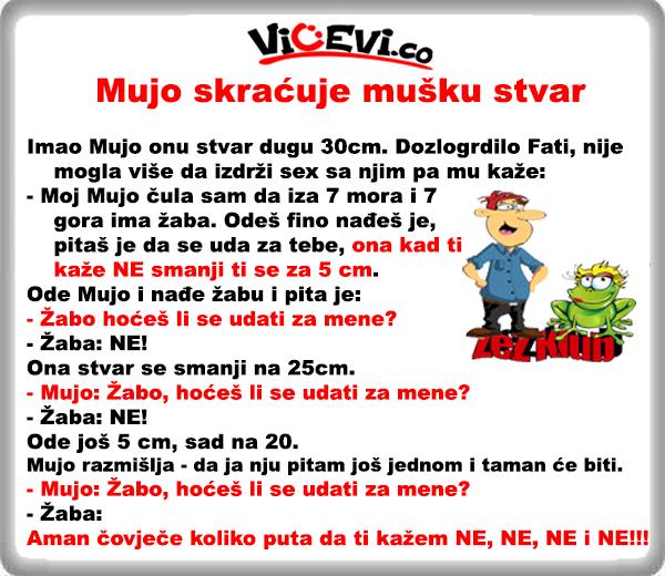 Mujo skraćuje mušku stvar @ vicevi o Bosancima