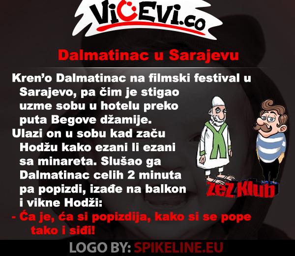 Dalmatinac u Sarajevu, vicevi o Bosancima, vicevi o Hrvatima, vicevi o Popovima