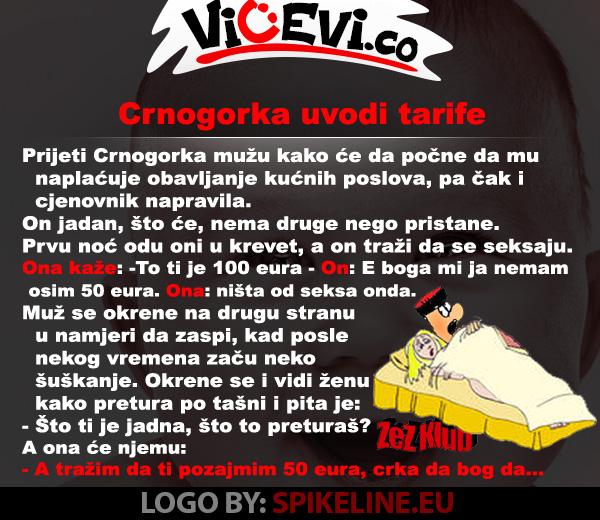 Crnogorka uvodi tarife @  Vicevi o Crnogorcima 15