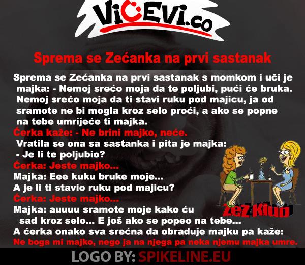 Sprema se Zećanka na prvi sastanak @ vicevi o Crnogorcima