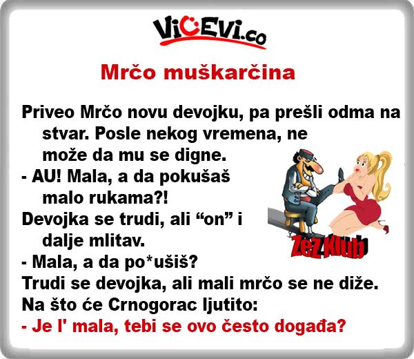 Mrčo muškarčina, 36 vicevi o Crnogorcima
