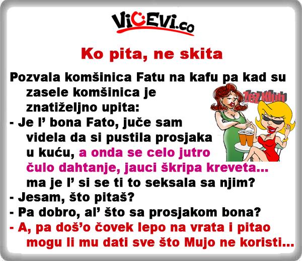 Ko pita, ne skita @ vicevi o Bosancima, Mužu i Ženi