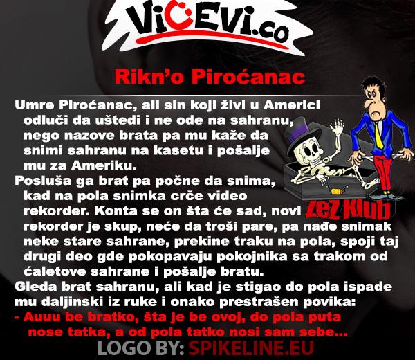 Rikno Piroćanac, vicevi o Piroćancima - Jug Srbije