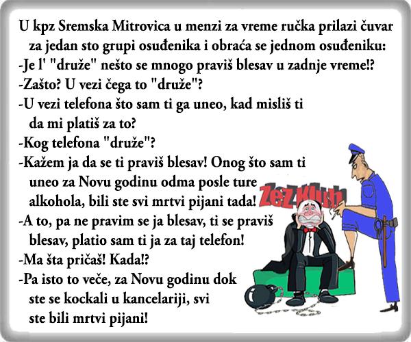 Sremska Mitrovica – vraćanje duga, vicevi Nesvrstani