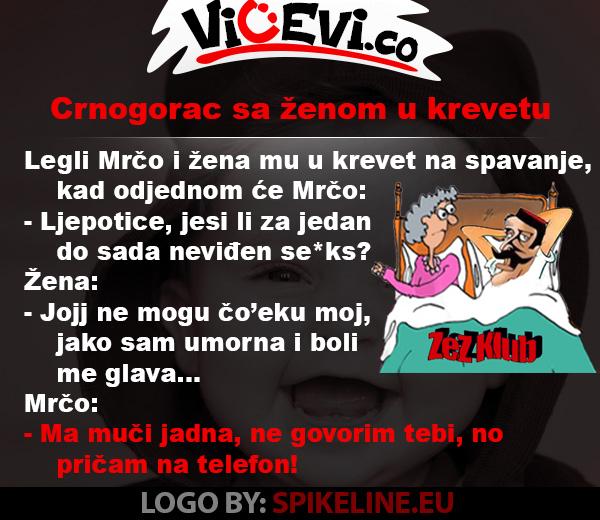 Crnogorac sa ženom u krevetu @ vicevi o Crnogorcima