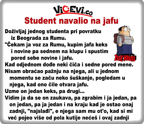 Student navalio na jafu @ 400 Vicevi o Debelim i Mršavim