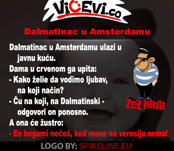 Dalmatinac u Amsterdamu @ Vicevi o Hrvatima