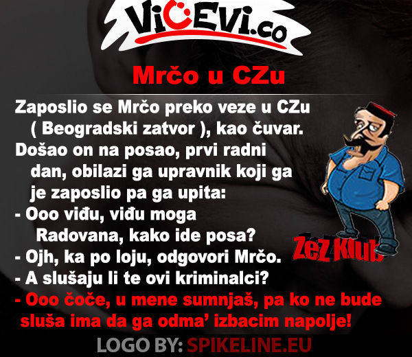 Mrčo u Czu, vicevi o Crnogorcima