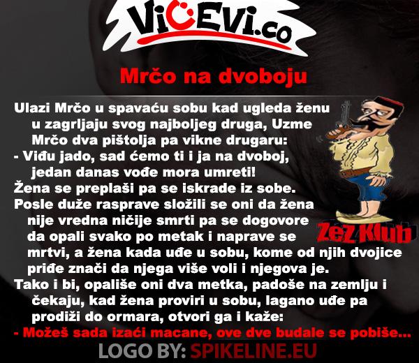 Mrčo na dvoboju @ vicevi o Crnogorcima