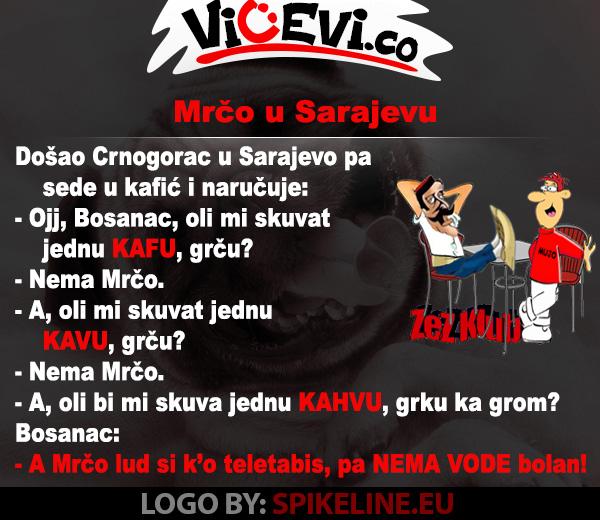 Mrčo u Sarajevu, vicevi o Crnogorcima