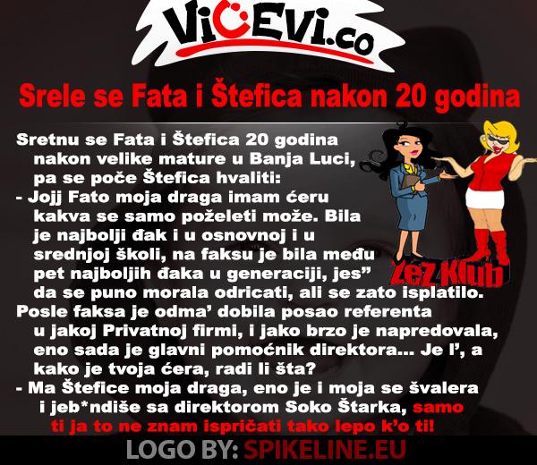 Srele se Fata i Štefica nakon 20 godina @ vicevi o Hrvatima, Bosancima