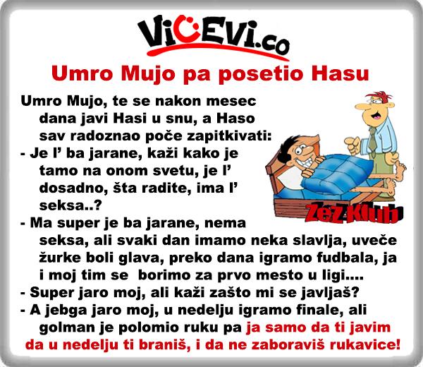 Umro Mujo pa posetio Hasu @ vicevi o Bosancima - Mujo i Haso