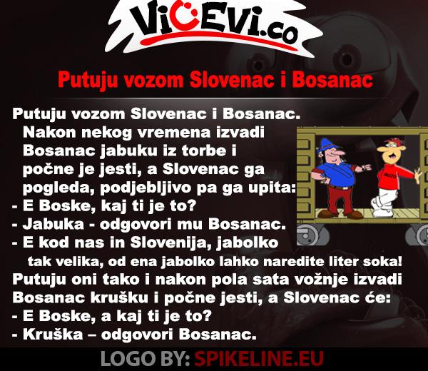 Putuju vozom Slovenac i Bosanac @ vicevi Bosanci, Slovenci