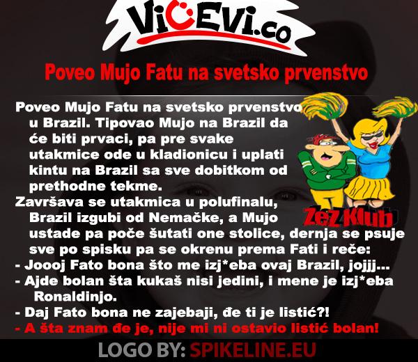 Poveo Mujo Fatu na svetsko prvenstvo @ vicevi o Bosancima