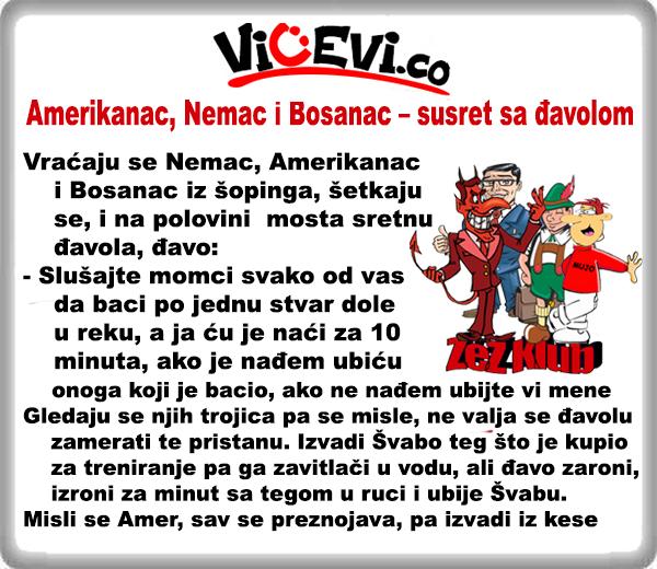 Amerikanac, Nemac i Bosanac – susret sa đavolom @ vicevi o Bosancima i Narodima