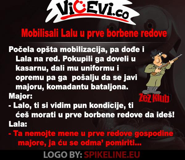 Mobilisali Lalu u prve borbene redove @ najbolji vicevi 90ih - Vojvođani