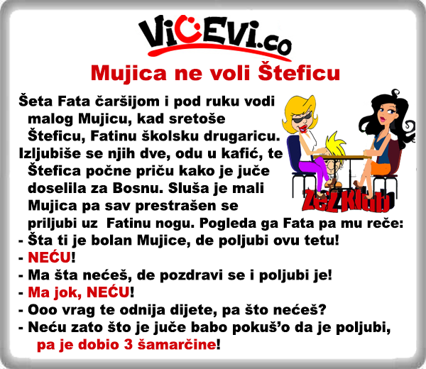 Mujica ne voli Šteficu, vicevi o Bosancima
