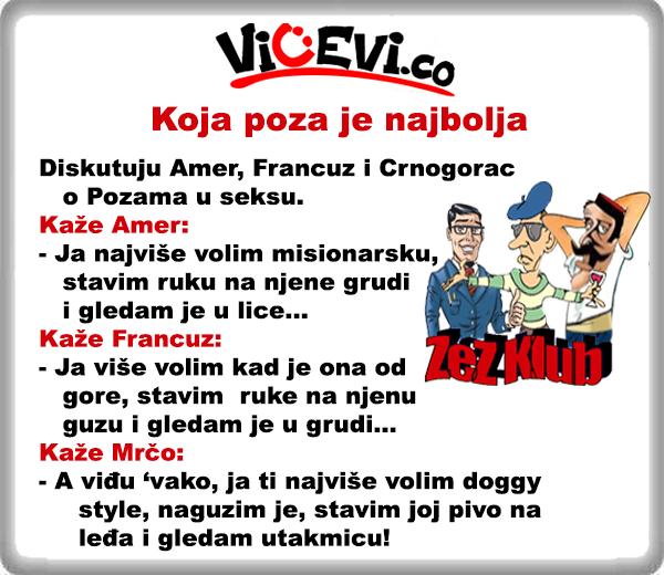 Koja poza je najbolja 18 @ vicevi o Crnogorcima