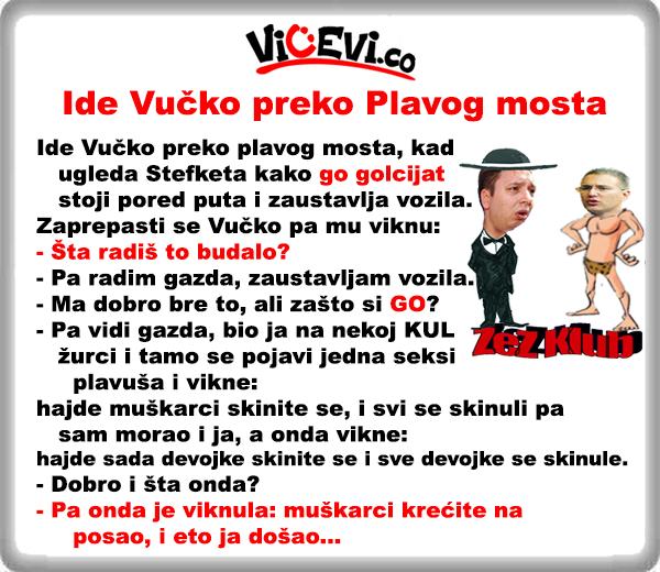 Ide Vučko preko Plavog mosta, vicevi o Policajcima, vicevi o Političarima
