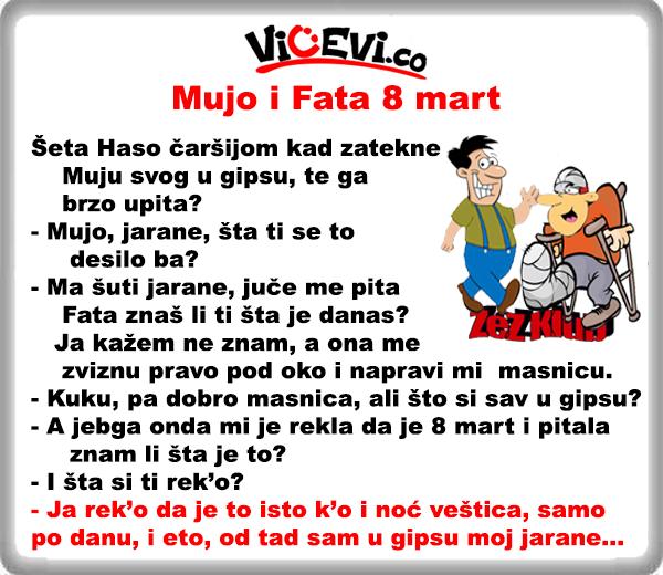 Mujo i Fata 8 mart @ vicevi o Bosancima