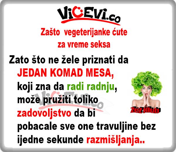 Zašto vegeterijanke ćute za vreme seksa @ vicevi o muži i ženi
