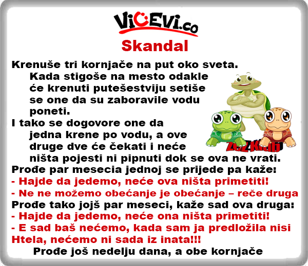 Skandal @ vicevi o Životinjama
