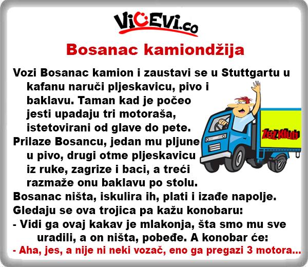 Bosanac kamiondžija @ vicevi o Bosancima