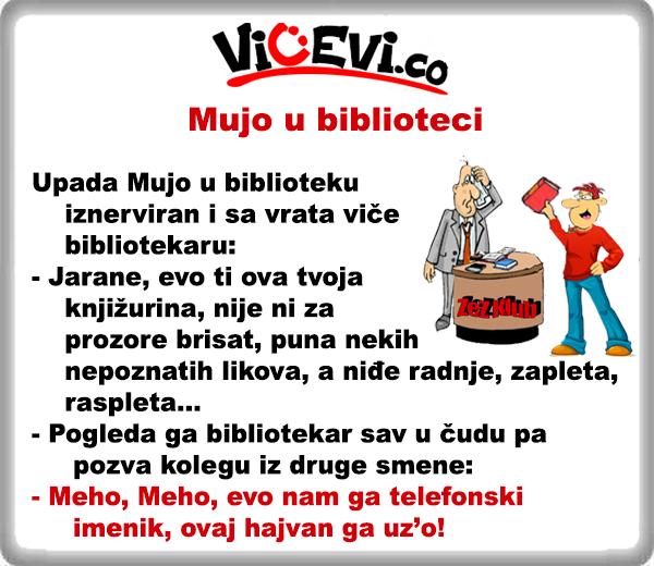 Mujo u biblioteci @ vicevi o Bosancima