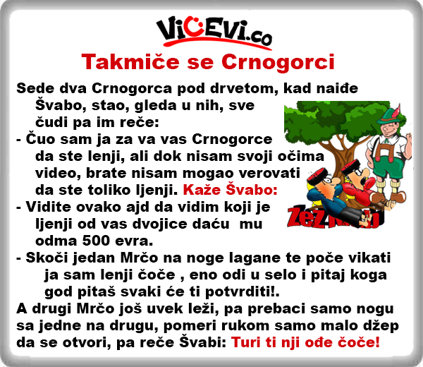 Takmiče se Crnogorci @ vicevi Crnogorci , Narodi