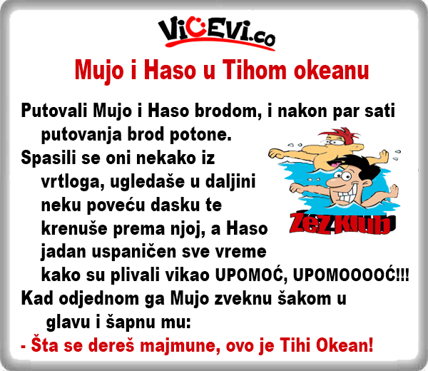 Mujo i Haso u Tihom okeanu @ vicevi o Bosancima