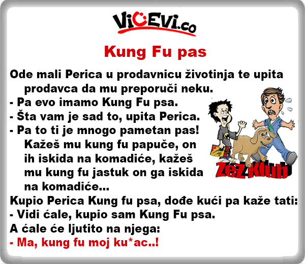 Kung Fu pas, vicevi o Perici