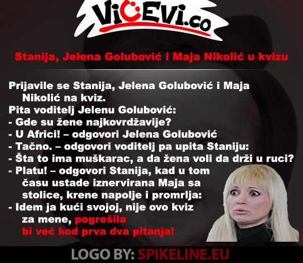Stanija, Jelena Golubović i Maja Nikolić u kvizu, 14 vicevi o Javnim ličnostim