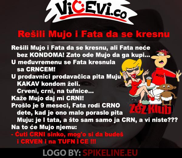 Rešili Mujo i Fata da se kresnu @ vicevi o Bosancima
