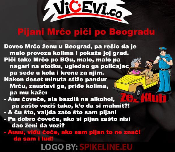 Pijani mrčo piči po Beogradu @ vicevi o Crnogorcima