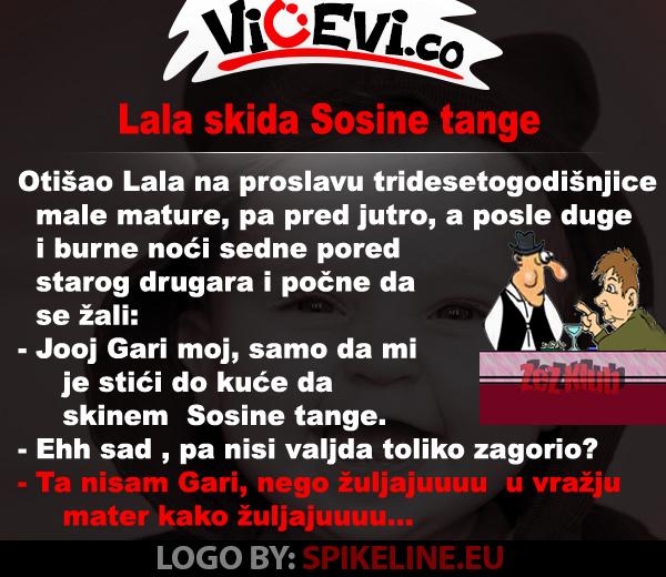 Lala skida Sosine tange @ vicevi o Vojvođanima - vicevi o Sosi i Lali