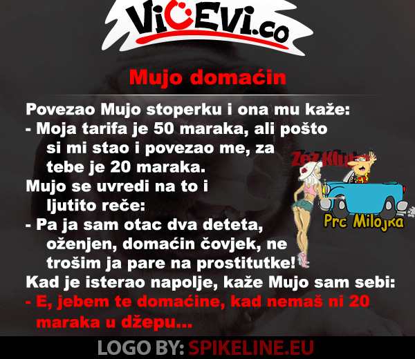 Mujo domaćin @ vicevi o Bosancima, vicevi o Muji